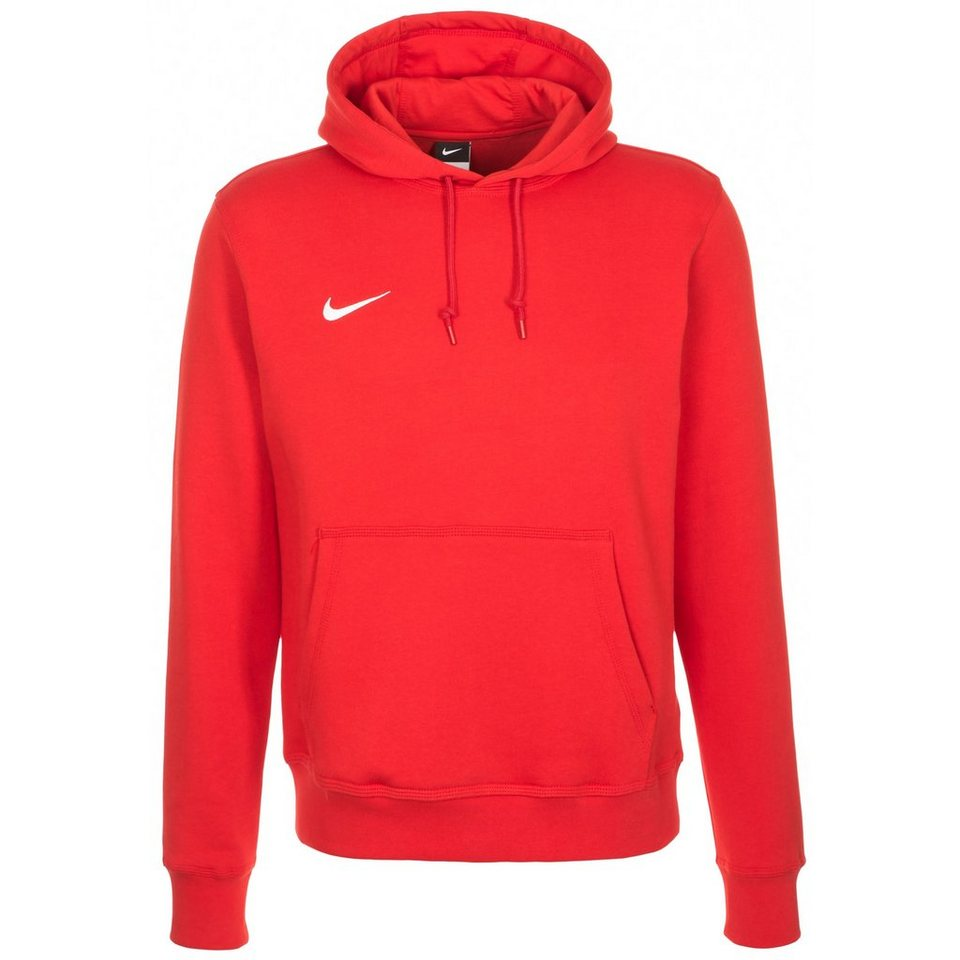 NIKE Team Club Trainingskapuzenpullover Herren in rot / weiß