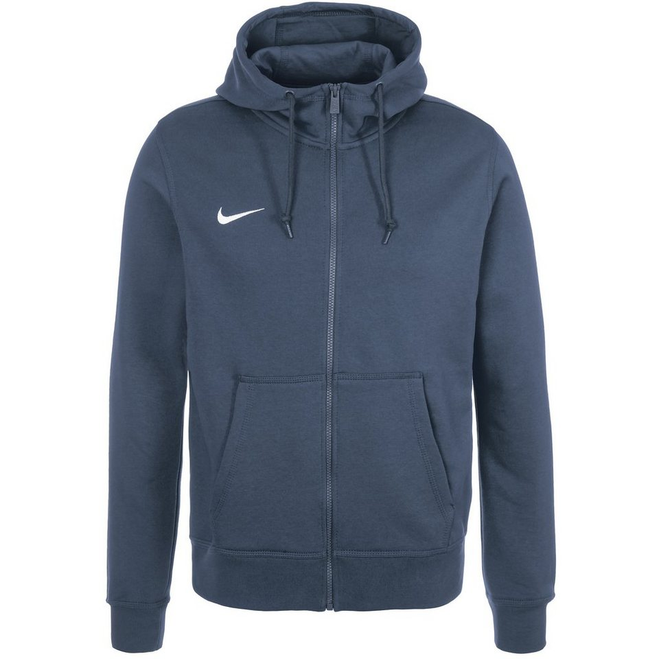 NIKE Team Club Trainingskapuzenjacke Herren in dunkelblau / weiß