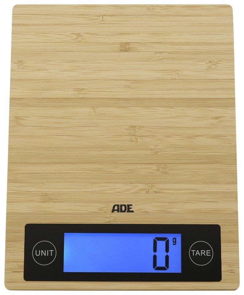 ADE Digitale Küchenwaage KE 1128/1129 Ramona in bambus