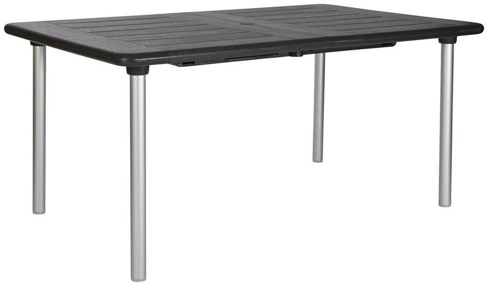 best gartentisch tavolo ausziehbar kunststoff 160 220x100 cm online kaufen otto. Black Bedroom Furniture Sets. Home Design Ideas