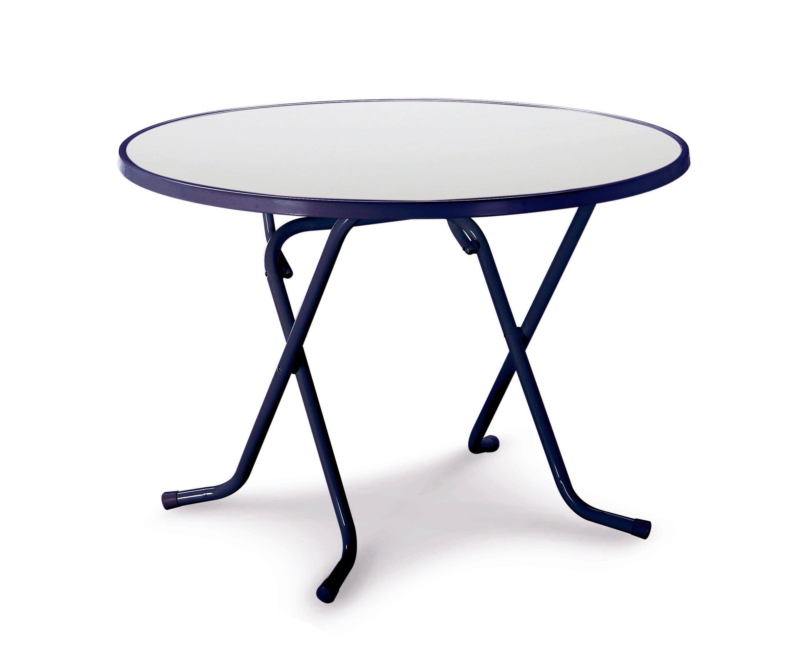 Best Gartentisch »Primo«, klappbar, Stahl/Kunststoff, Ø 100 cm, blau