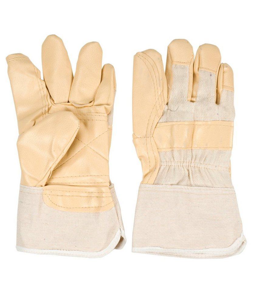 Kunstleder Handschuh (6 Paar) in natur