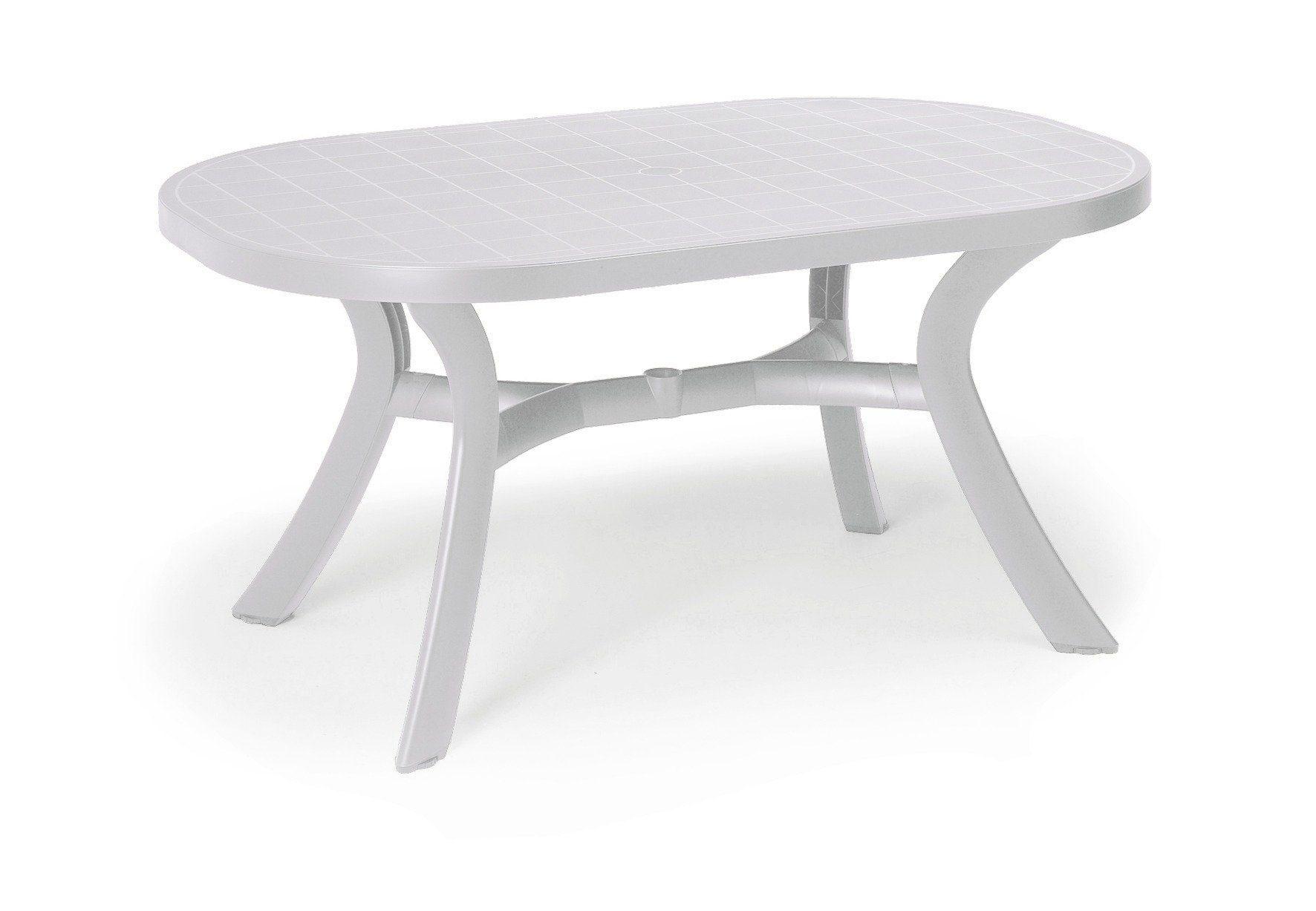 BEST Gartentisch »Kansas«, Kunststoff, 145x95 cm, weiß