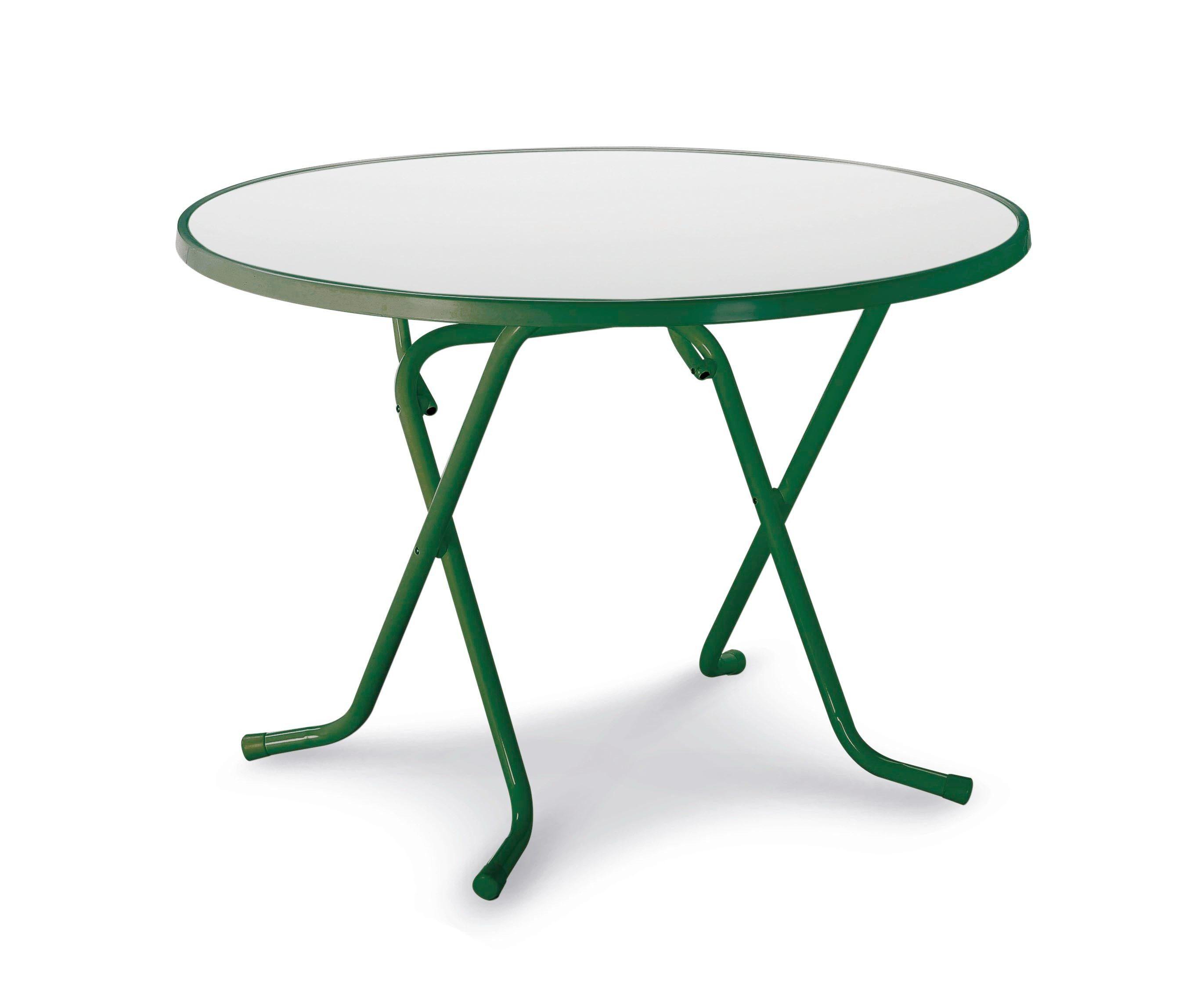 BEST Gartentisch »Primo«, Stahl/Kunststoff, klappbar, Ø 100 cm, grün