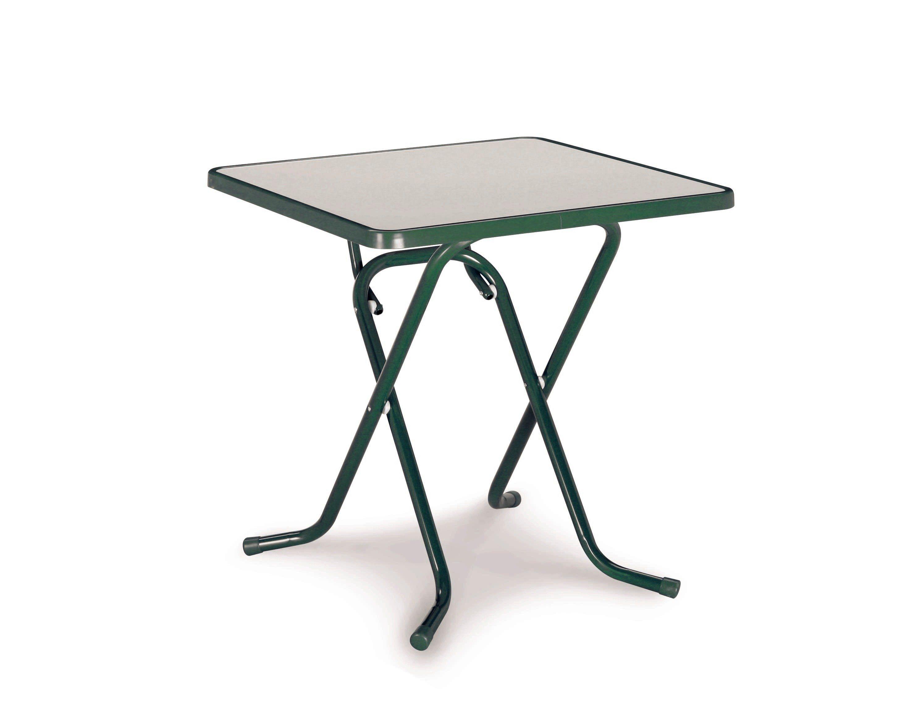 Best Gartentisch »Primo«, klappbar, Stahl/Kunststoff, 67x67 cm, grün