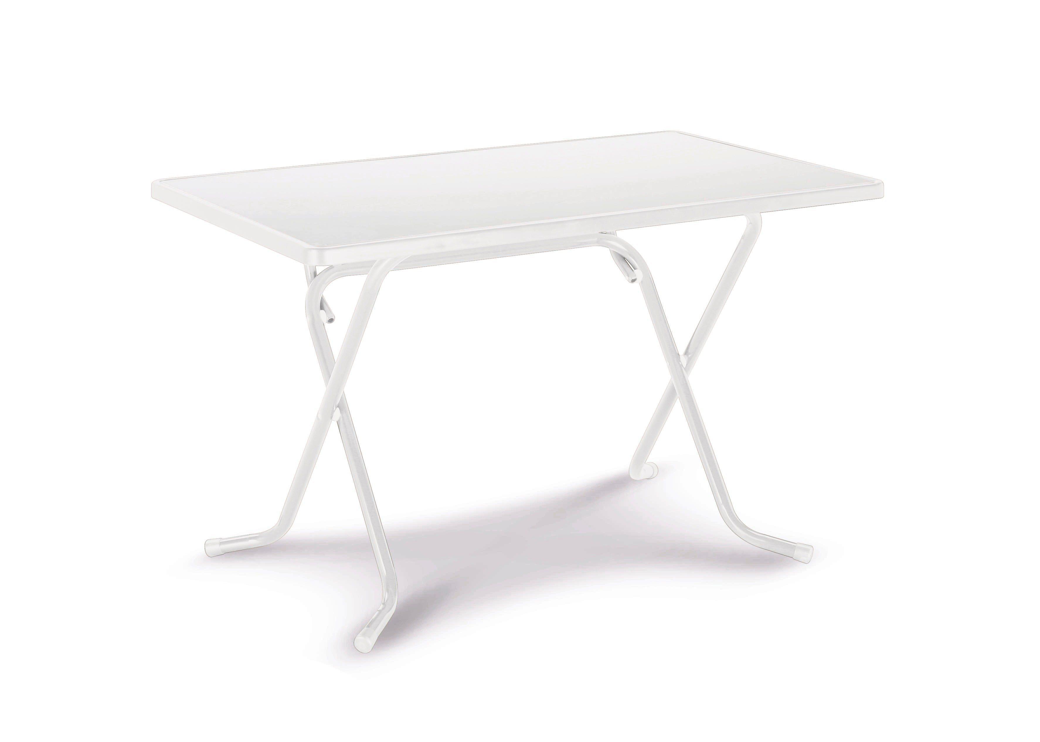 Gartentisch »Primo«, Stahl/Kunststoff, Klappbar, 110x70 Cm, Weiß