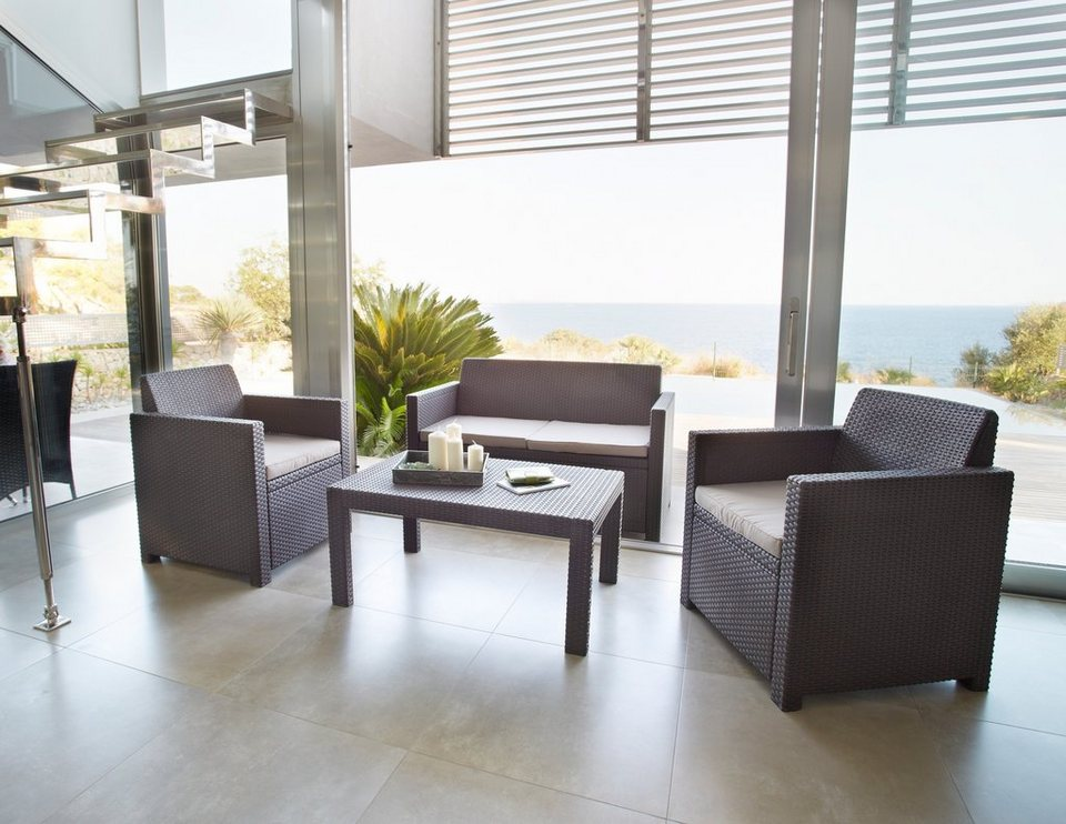 loungeset merano 4 tlg 2er sofa 2 sessel tisch. Black Bedroom Furniture Sets. Home Design Ideas