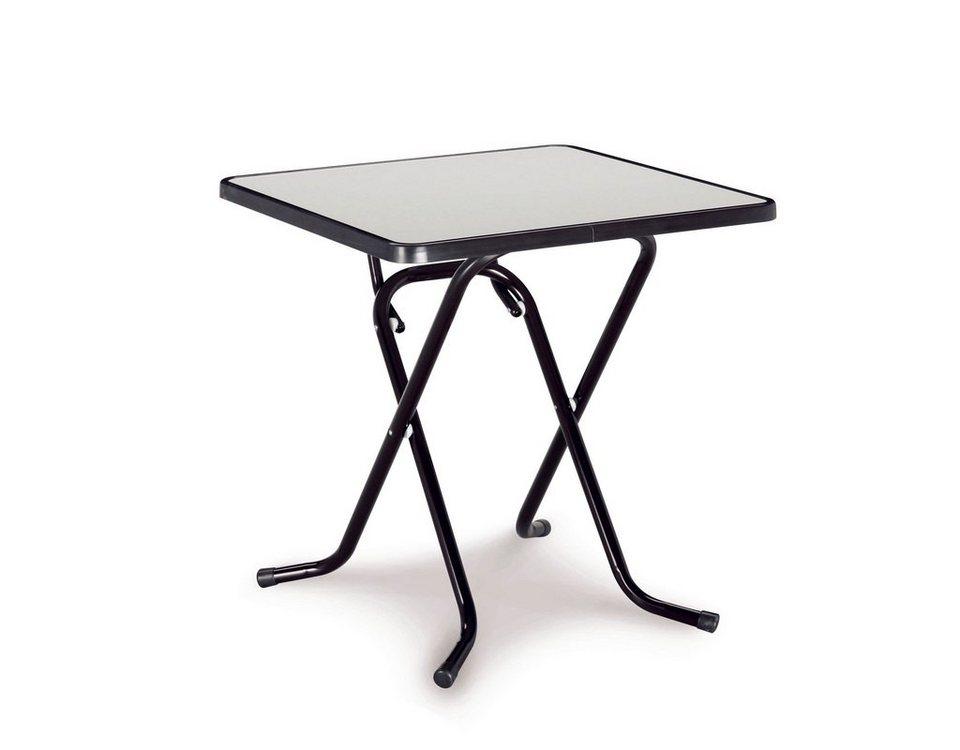 Best Gartentisch Primo Stahl Kunststoff Klappbar 67x67 Cm