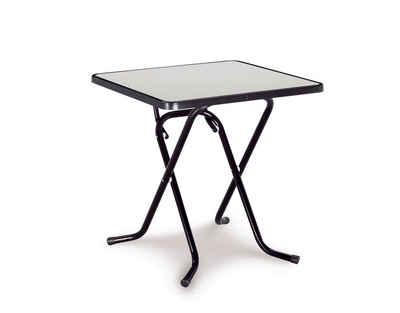 BEST Gartentisch »Primo«, Stahl/Kunststoff, Klappbar, 67x67 Cm, Anthrazit