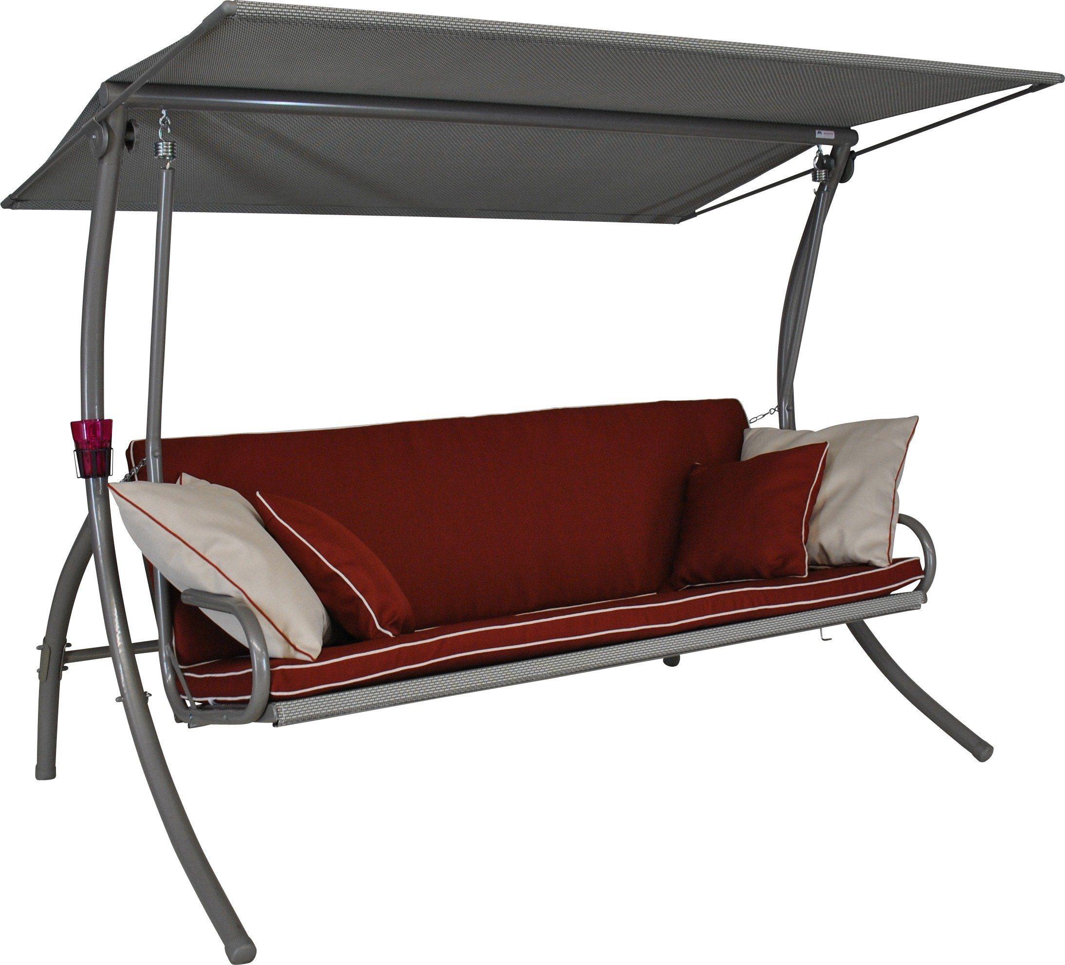 ANGERER FREIZEITMÖBEL Hollywoodschaukel »Elegance Style«, 3-Sitzer, rot