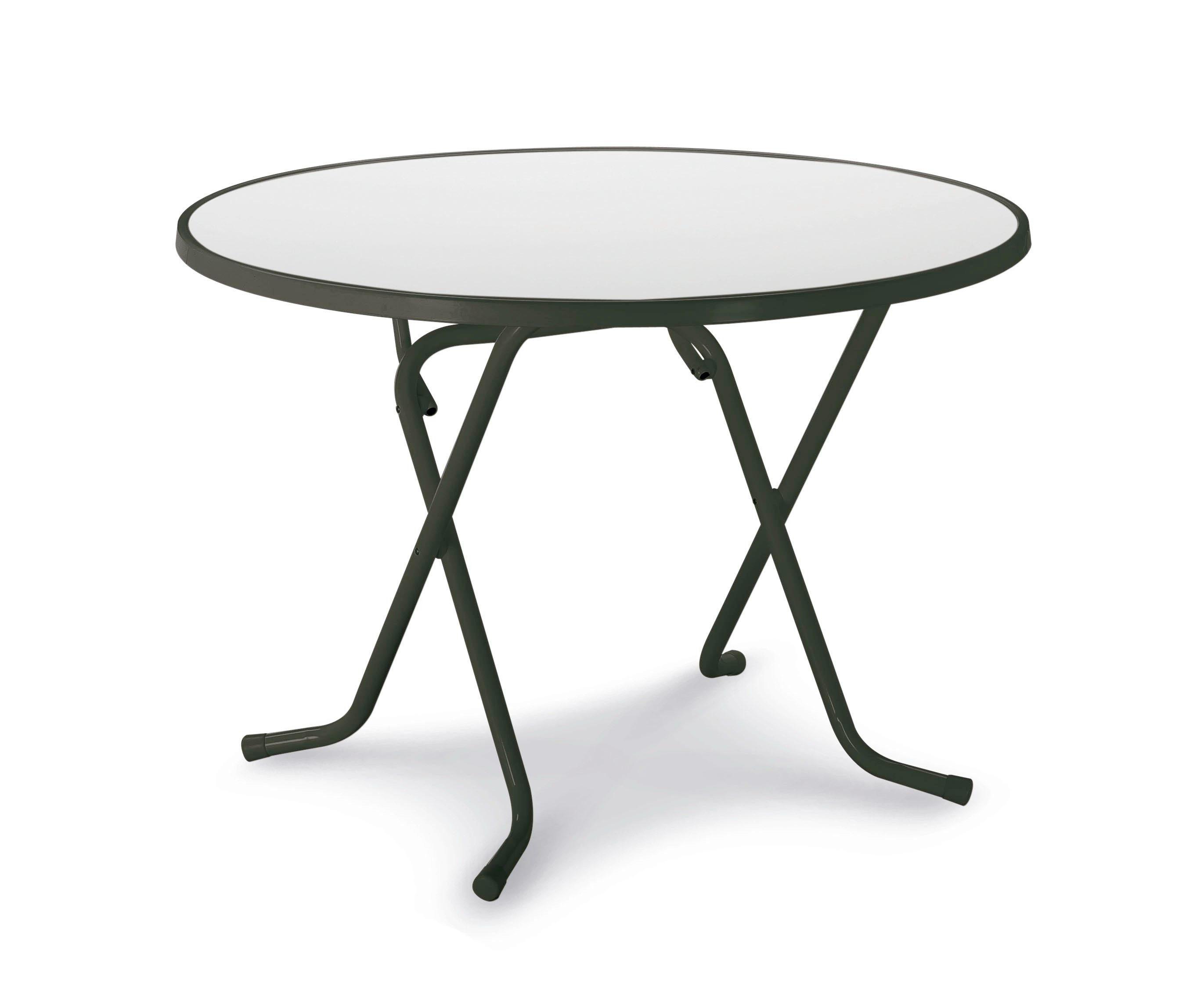 BEST Gartentisch »Primo«, Stahl/Kunststoff, klappbar, Ø 100 cm, anthrazit