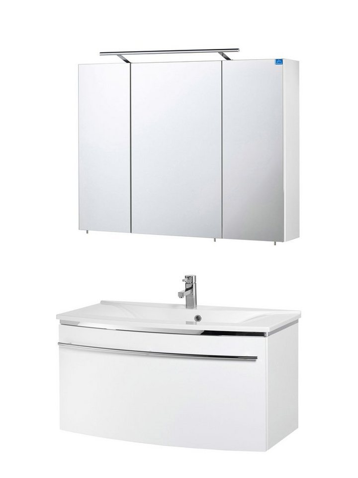 Optifit Badmöbel-Set »OPTIpremio 2043«, Breite 92,4 cm, 2-teilig in weiß