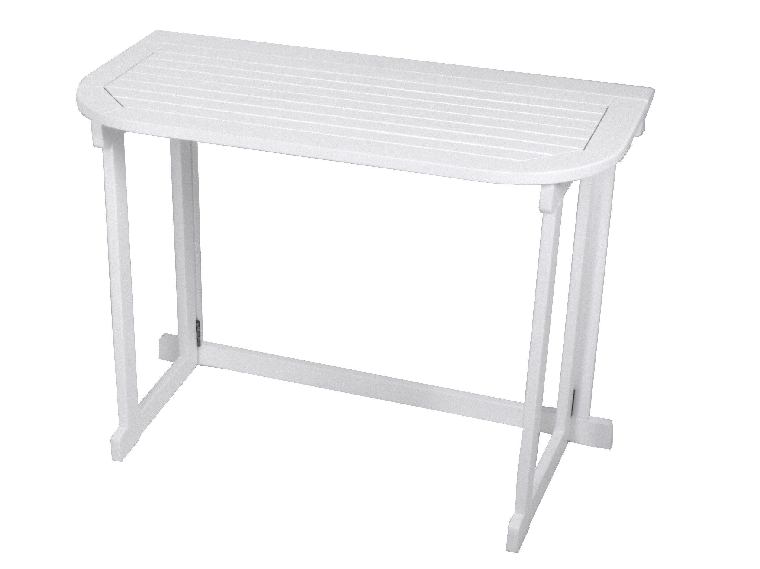 Gartentisch »Manila«, Eukalyptusholz, klappbar, 100x50 cm, weiß