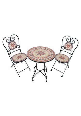 GARDEN PLEASURE 3 vnt. sodo baldų komplektas »Mosaik« ...