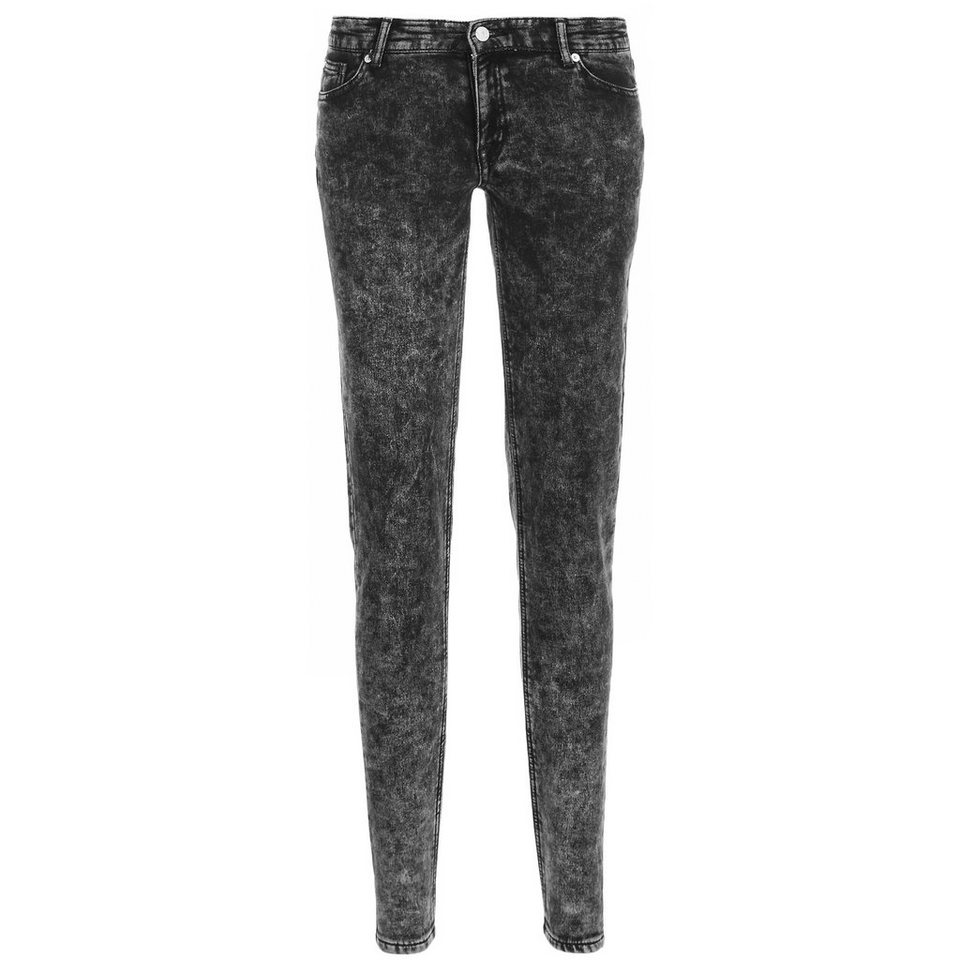 adidas Originals Denim Superskinny Hose Damen in schwarz