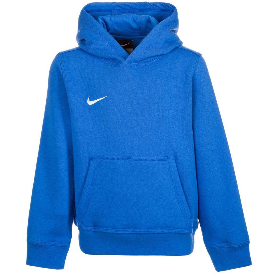 NIKE Team Club Trainingskapuzenpullover Kinder in blau / weiß