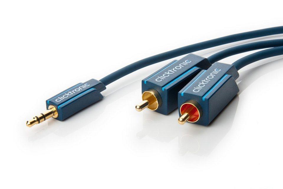 Clicktronic MP3-Adapterkabel »Zusatzadapter für MP3-Player,iPods und Smartphones«