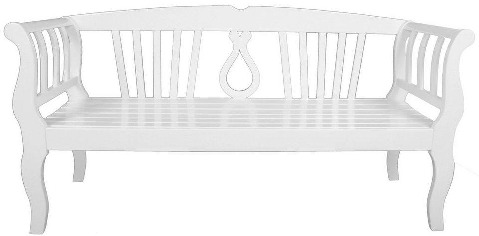 Gartenbank »Arcadia«, Eukalyptus, 174x57x90 cm, weiß online kaufen ...