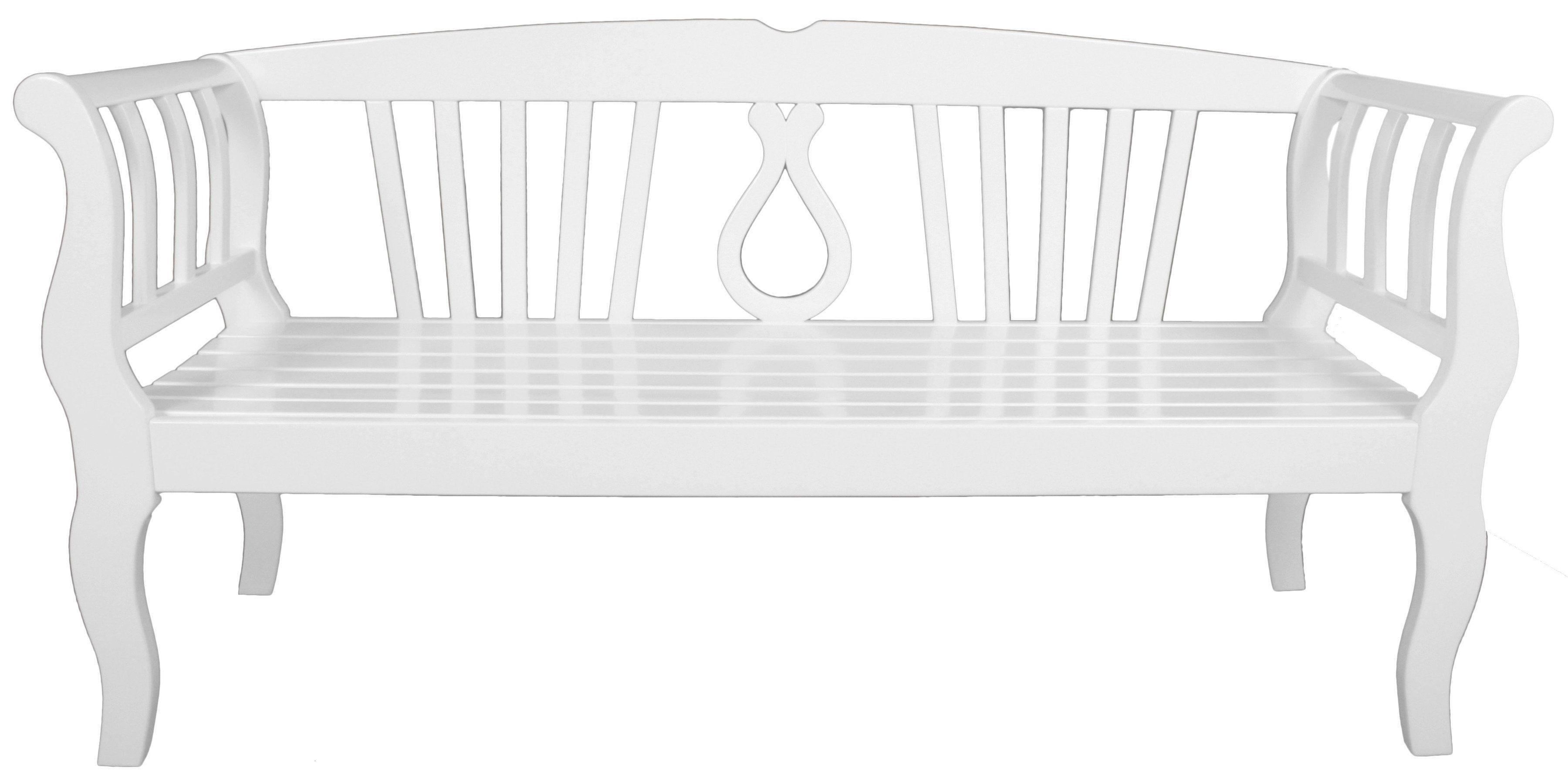 Gartenbank »Arcadia«, Eukalyptusholz, weiß