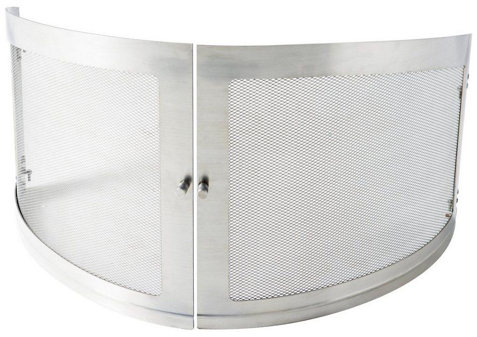 Funkenschutztür , für Gartenkamin »Asado«, BxT: 35x35 cm in silberfarben