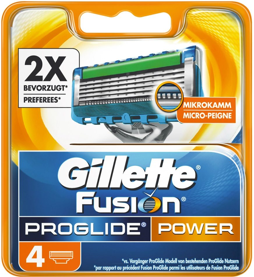 Gillette, »Fusion ProGlide Power«, Rasierklingen (4 Stck.)