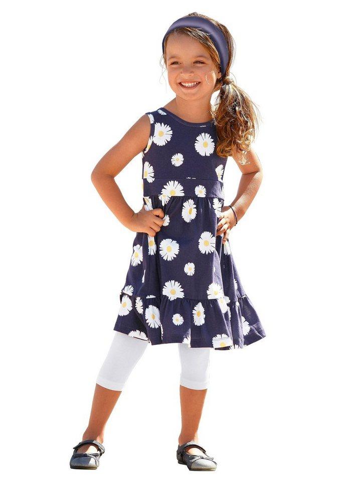 PETITE FLEUR Jerseykleid mit Blumen-Muster, für Mädchen in Blau