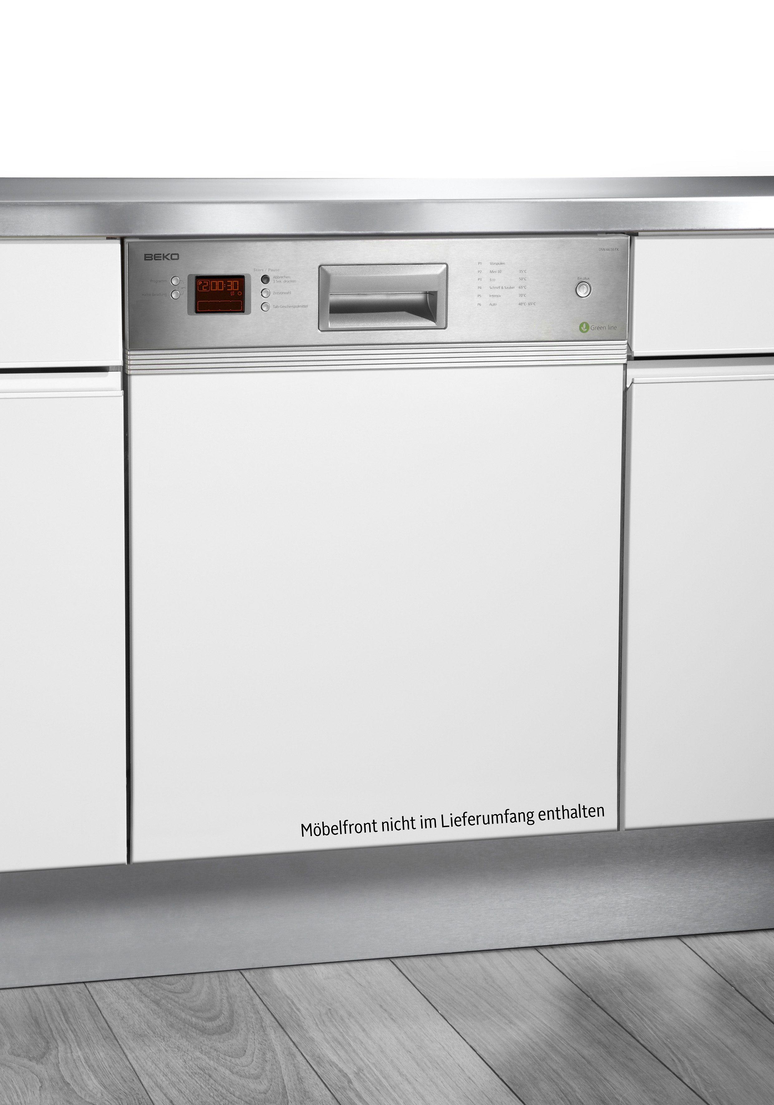 Beko integrierbarer Einbaugeschirrspüler »DSN 6634 FX« in 2 Farben, A++, 10 Liter, 13 Maßgedecke