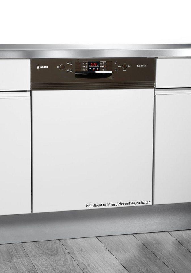 Bosch Integrierbarer Einbaugeschirrspüler SMI63N24EU, A++, 9,5 Liter, 13 Maßgedecke in braun