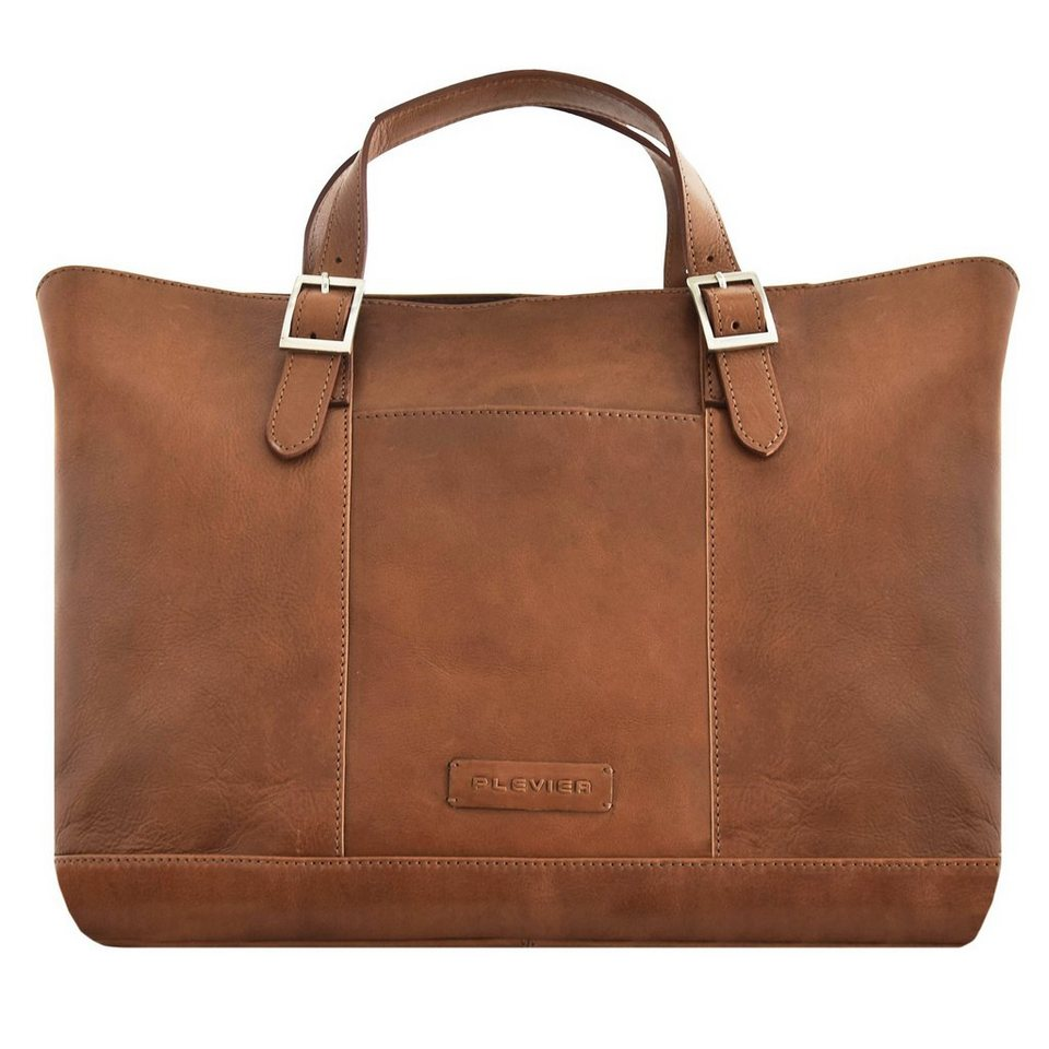 Plevier 800er Serie Business Shopper Tasche 45 cm Laptopfach in braun