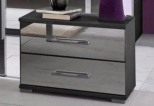 rauch Nachttisch in graumetallic