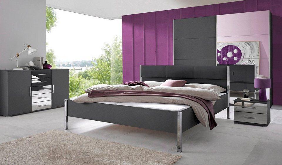 rauch Schlafzimmer-Set (4-tlg.) in graumetallic