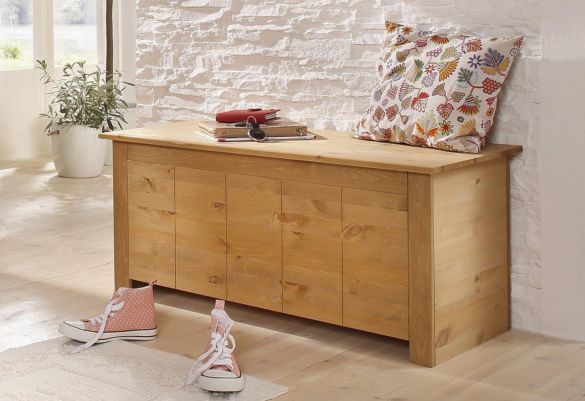 Sitztruhe, Home affaire, »Bertram« | Küche und Esszimmer > Sitzbänke > Sitztruhen | Poliert - Holz | Home affaire