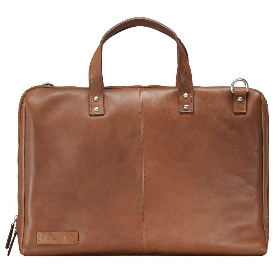 Plevier 800er Serie Business Shopper Tasche 40 cm Laptopfach in braun