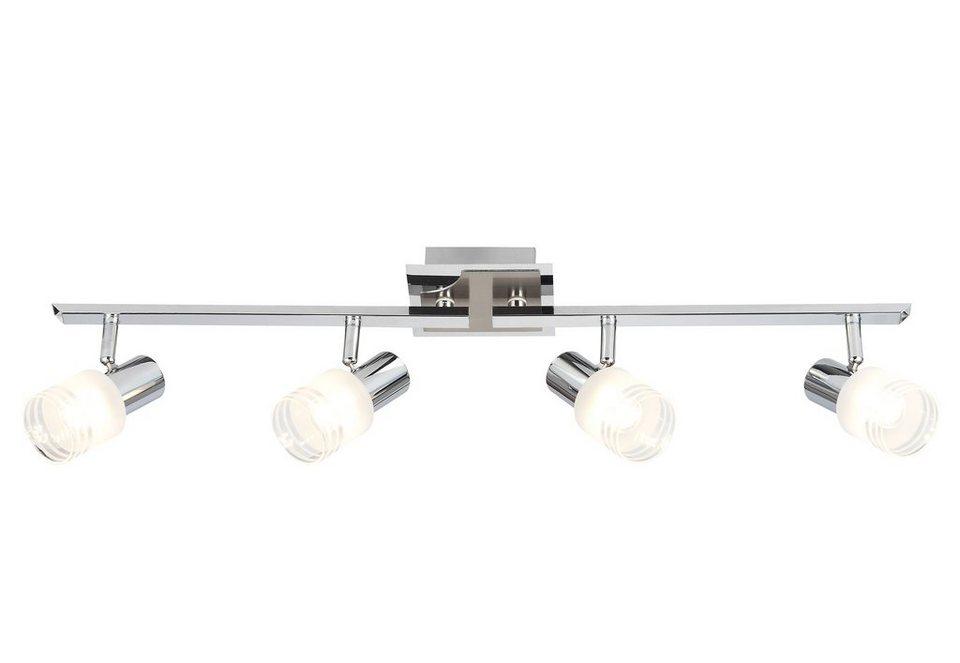 brilliant leuchten led deckenstrahler 4 flammig aus metall und glas online kaufen otto. Black Bedroom Furniture Sets. Home Design Ideas