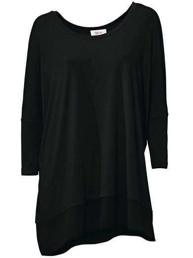 LINEA TESINI by Heine Oversized-Shirt mit Chiffon-Saum