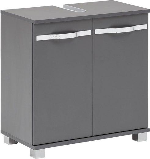Schildmeyer Waschbeckenunterschrank »Dina« mit glänzenden Metallgriffen