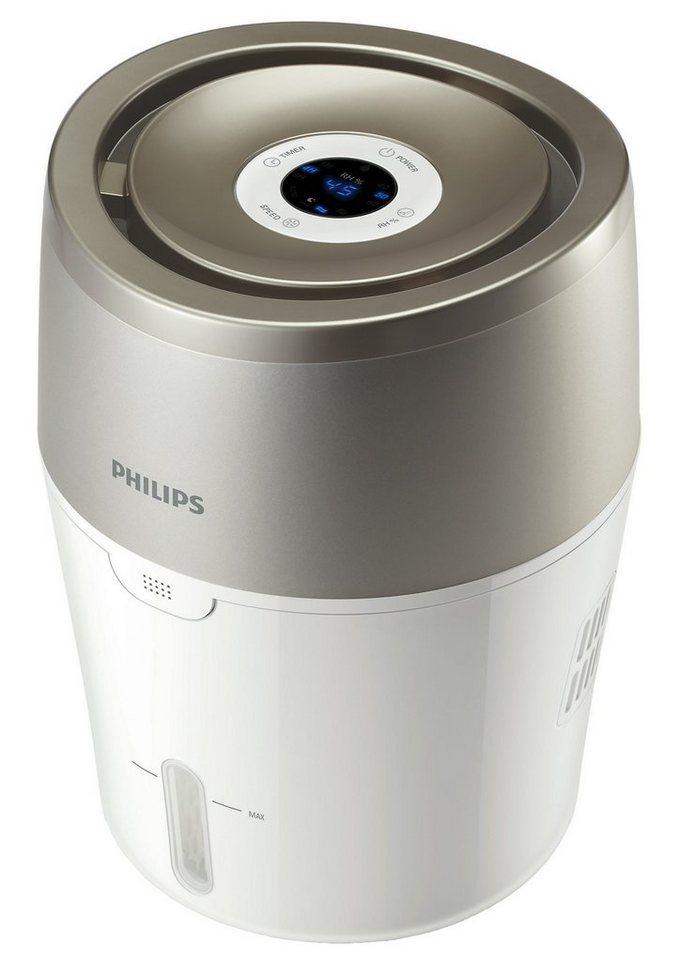 Philips Luftbefeuchter HU4803/01 mit hygienischer NanoCloud-Technologie in Weiß und Grau Metallic