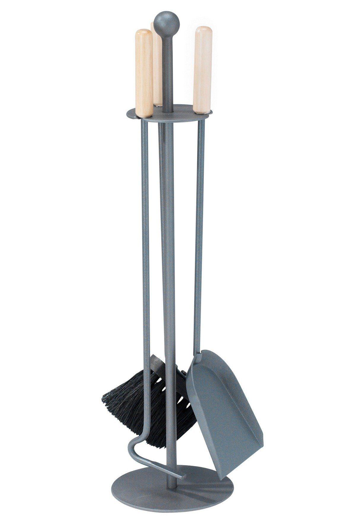 Südmetall Kaminbesteck »Eisen beschichtet«, Set 3 tlg., Griffe aus Holz