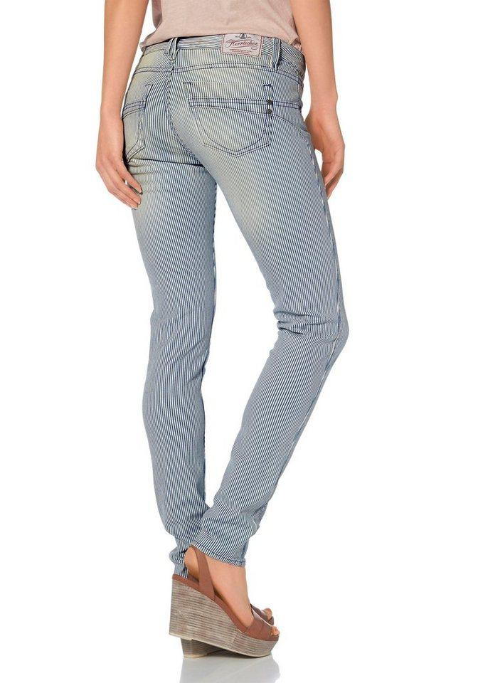 herrlicher slim fit jeans touch in streifen optik. Black Bedroom Furniture Sets. Home Design Ideas