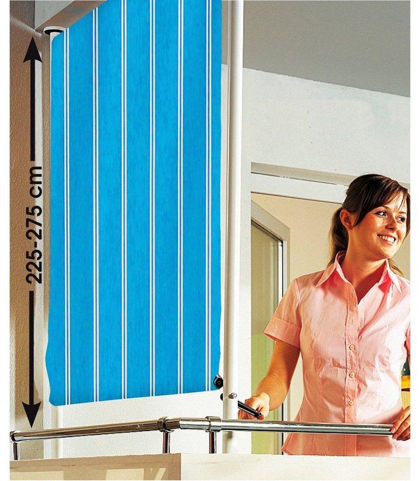 Balkonsichtschutz »Polyacryl, blau/weiß« in 2 Breiten in blau-weiss