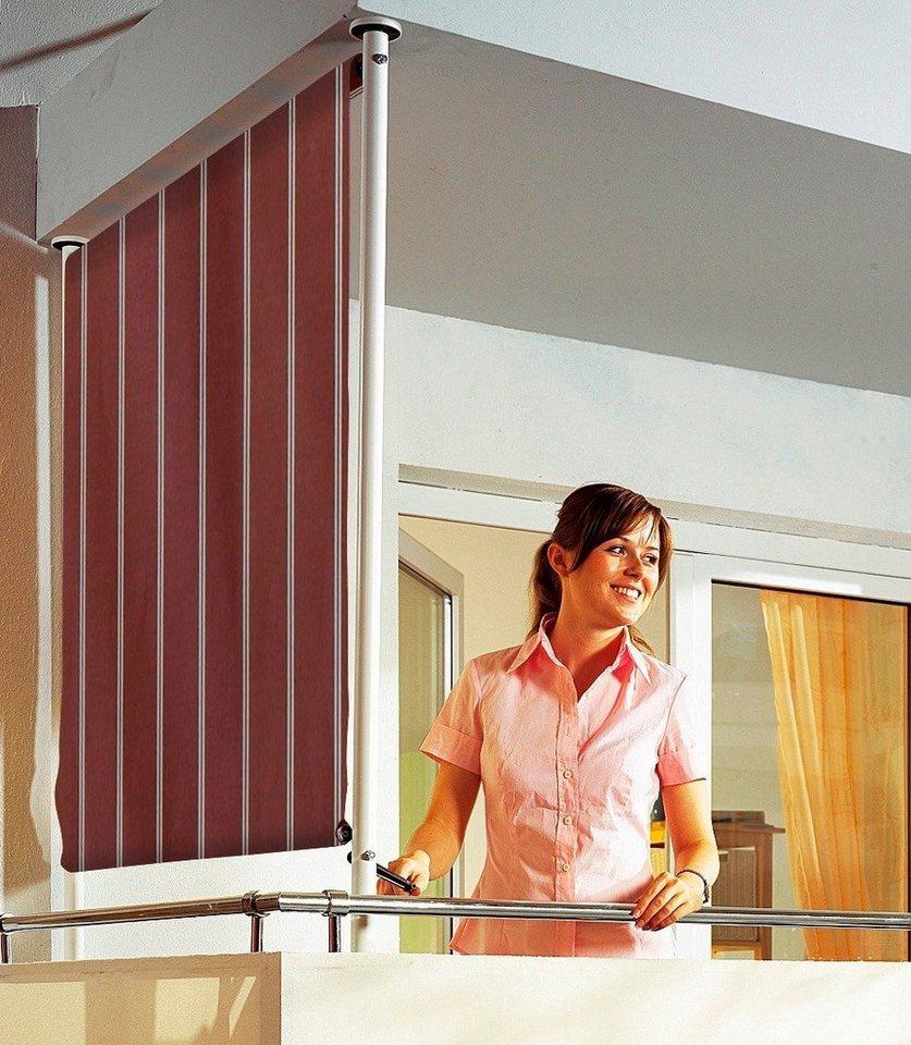 Balkonsichtschutz »Polyacryl, weinrot/weiß« in 2 Breiten in rot