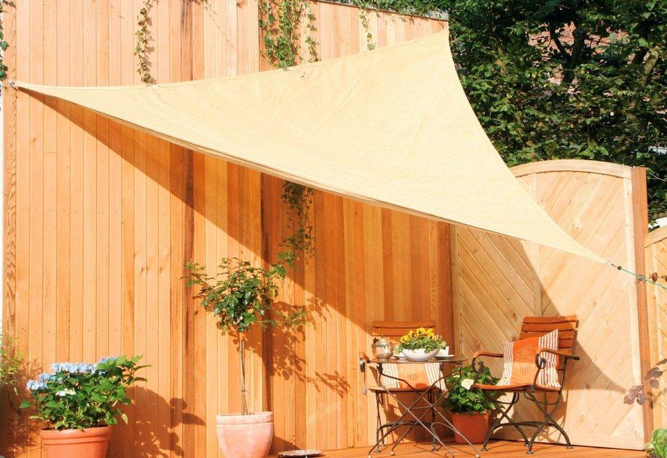 Sonnensegel »Dreiecksegel in 3 Größen« in creme