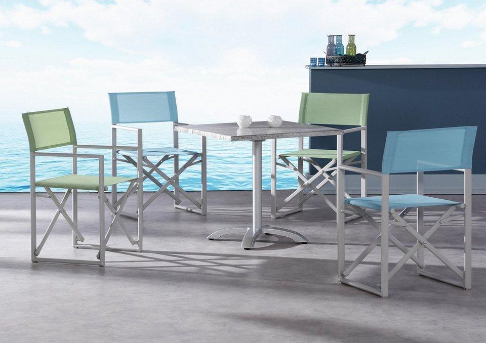 Tisch »Montpellier« in silberfarben