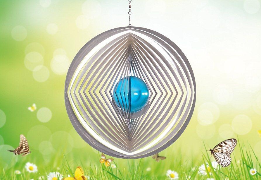 Windspiel, »Kreis Raute Kreis«, ILLUMINO in blau
