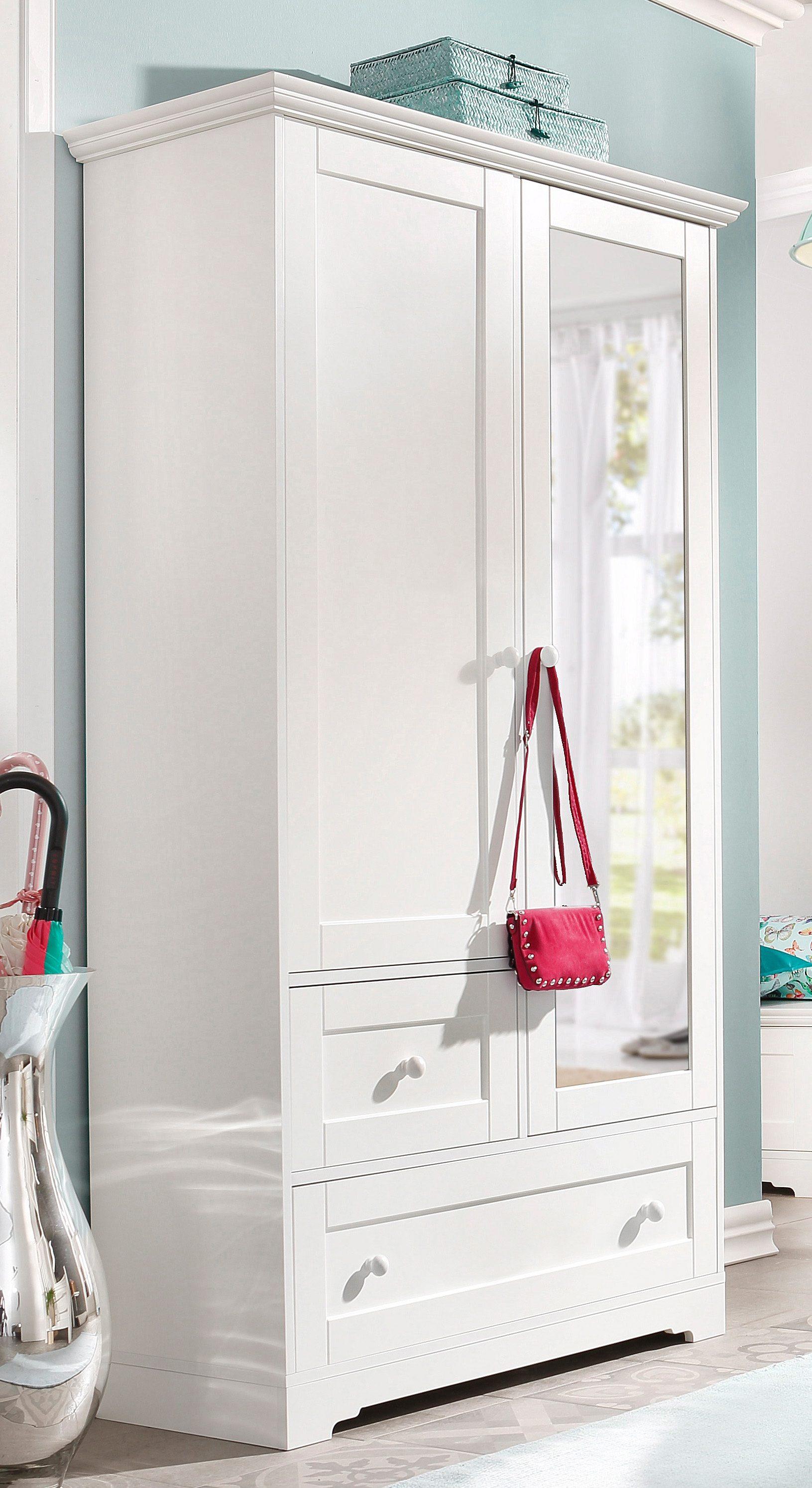 Garderobenschrank, Home affaire, »Lourdes« mit Spiegel