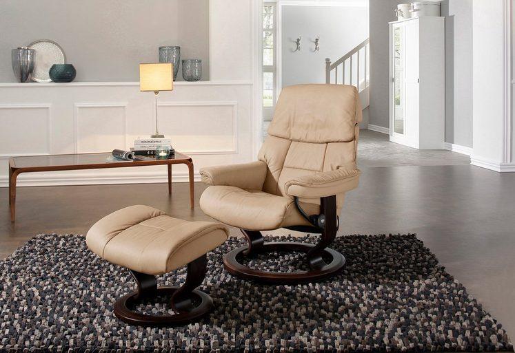 Stressless® Relaxsessel »Ruby«, mit Hocker, mit Classic Base, Größe L, mit Schlaffunktion