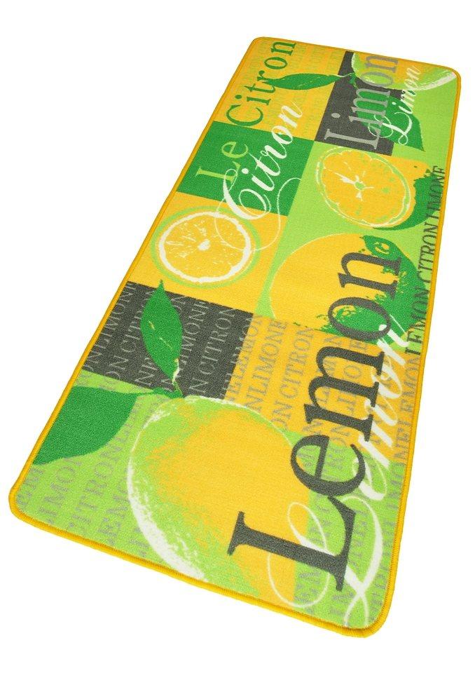 Küchenläufer »Lemon«, Hanse Home, rechteckig, Höhe 8 mm in gelb-grün