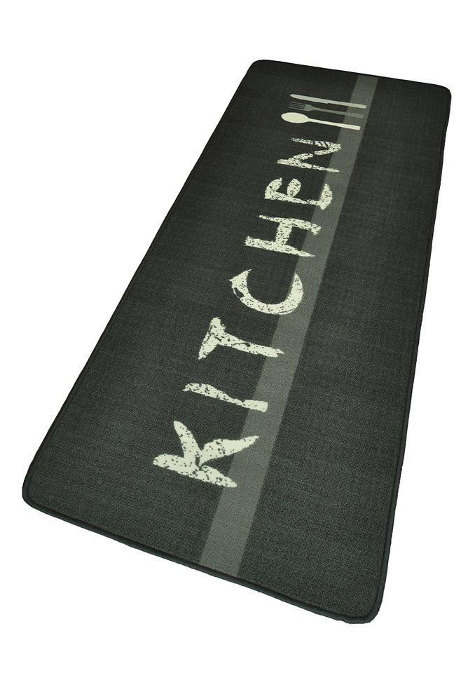Küchenläufer »Kitchen«, Hanse Home, rechteckig, Höhe 8 mm in grau