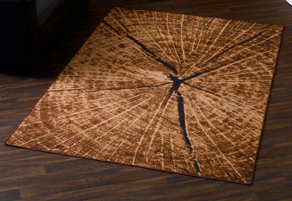 Teppich, Hanse Home, »Baumstamm« -Optik, Baumscheibe eckig, getuftet in braun