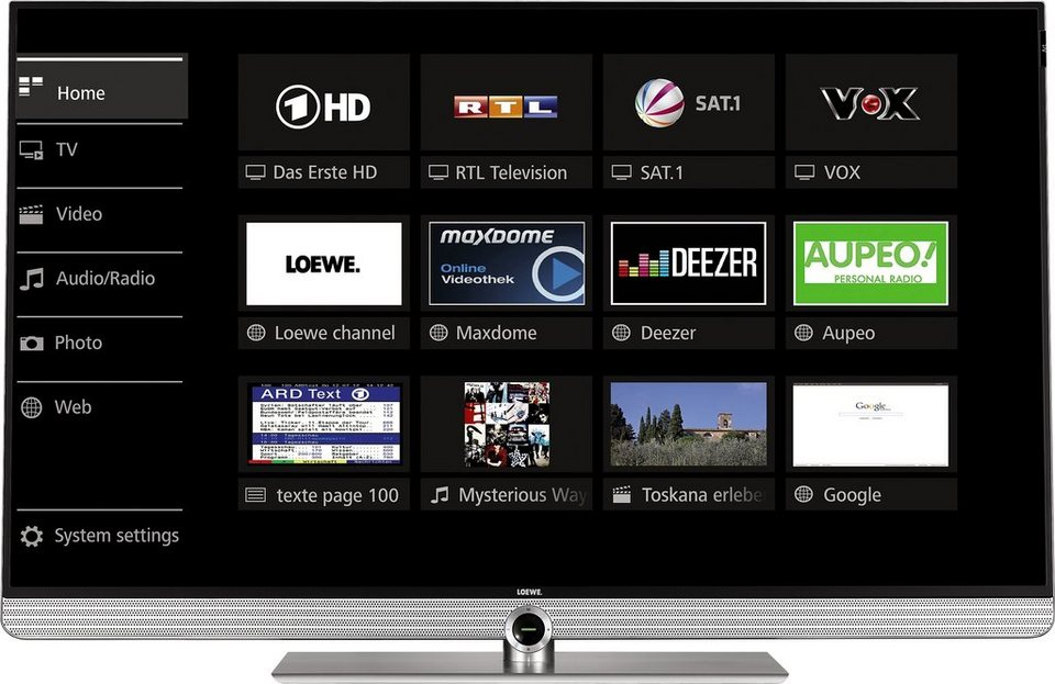 Loewe Art 40, LED Fernseher, 102 cm (40 Zoll), 2160p (4K Ultra HD) in silberfarben
